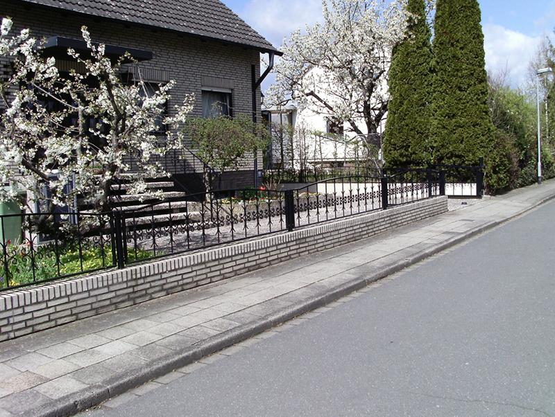 Metallzaun Vorgarten Braunschweig Zaunanlage Zaun