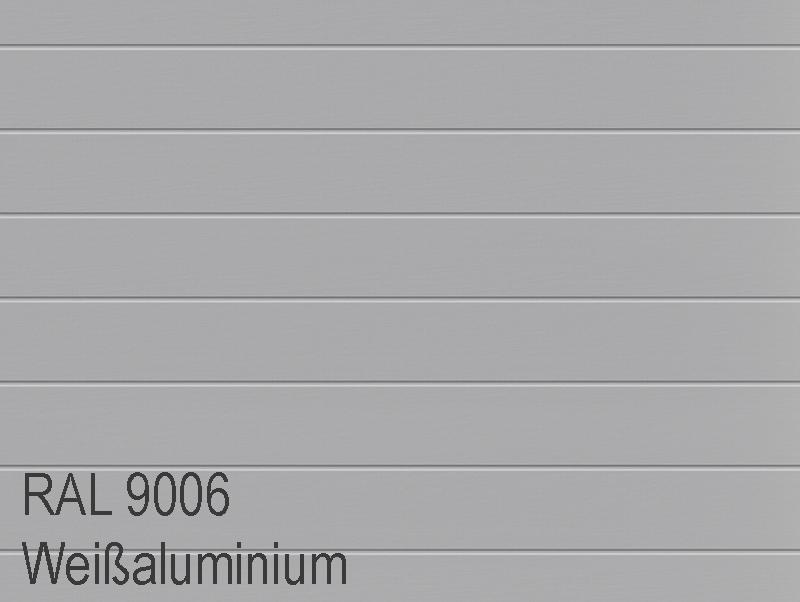 Garagentor Farbe Sektionaltor silber