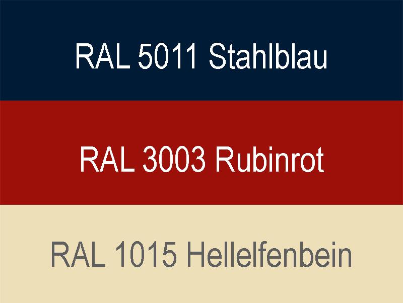 Garagentor Sektionaltor Farben blau rot beige
